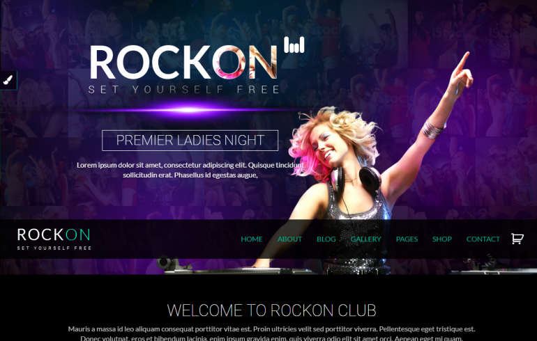 Rockon: 10 Best WordPress Themes for Nightclubs 2018