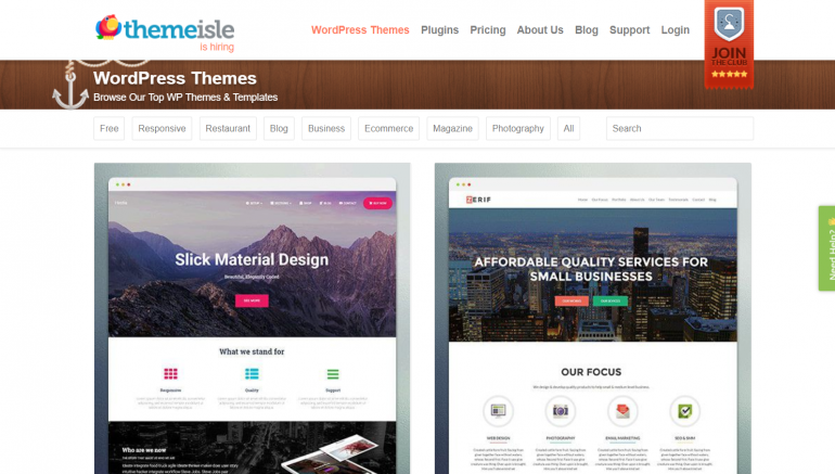 ThemeIsle: The Best Places to Buy WordPress Themes 2018