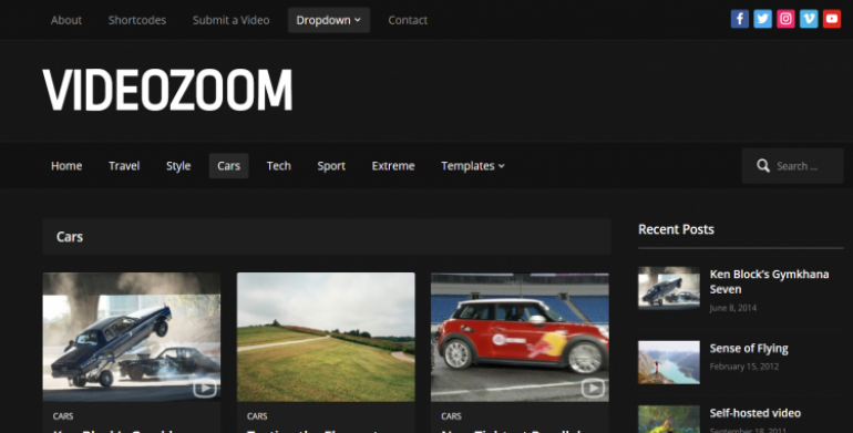 Videozoom: The Best WordPress Themes for Videographers 2019