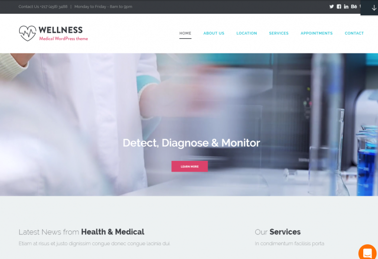 Wellness: 10 Best Chiropractic WordPress Themes for 2018