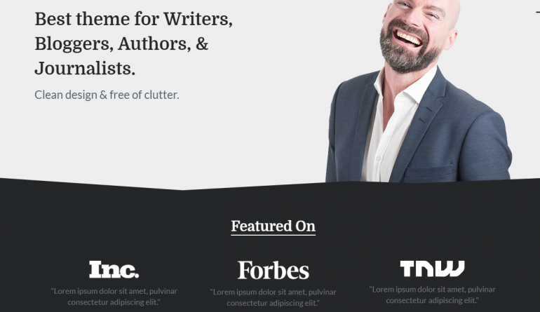 Writer: Best WordPress Themes For Speakers, Life Coaches and Motivational Speakers 2019